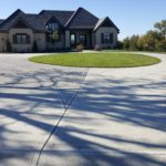 Aesthetic Concrete Designs can design and create a custom circle concrete driveway.