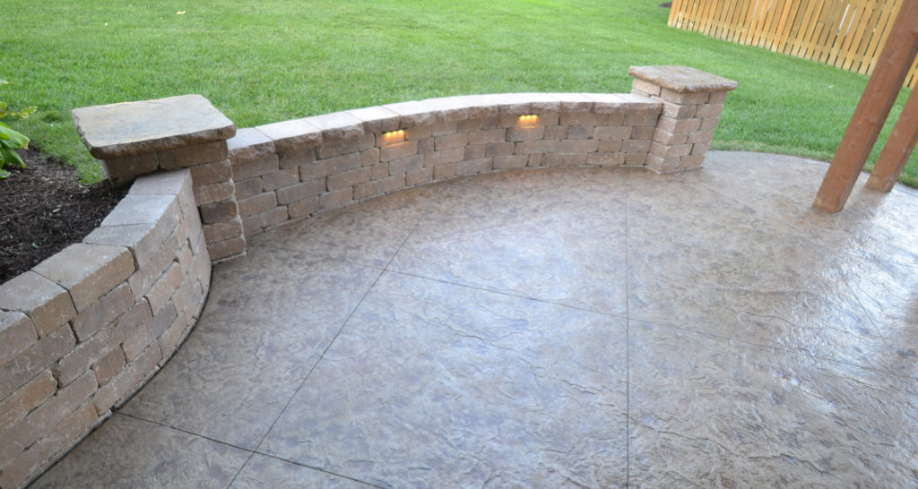 Concrete Tops on Custom Stamped Concrete