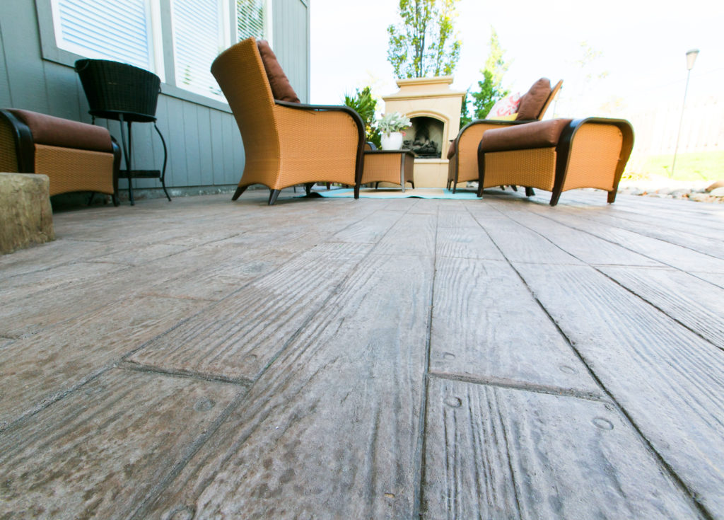 Custom Stamped Patio Plank Design
