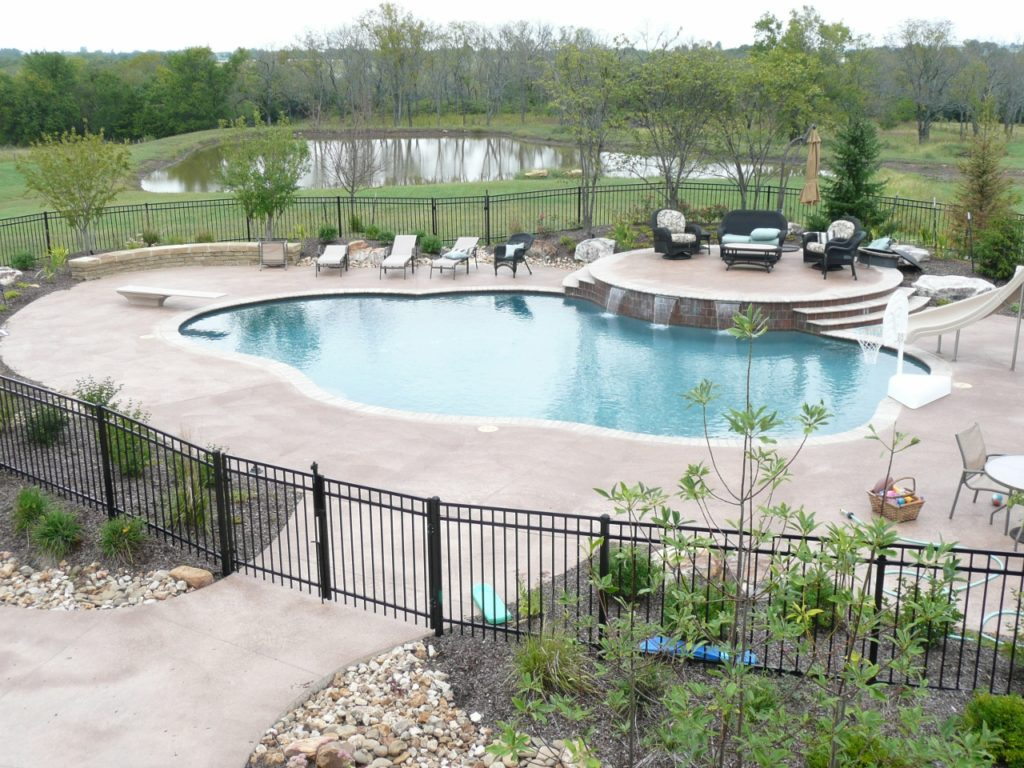 Concrete pool decks, coping and pool deck resurfacing from Aesthetic Concrete Designs in Kansas City.